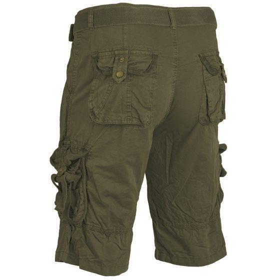 Mil-Tec Vintage Survival Shorts Prewashed Oliv