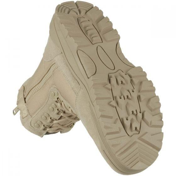Mil-Tec Taktische Stiefel mit seitlichem Reißverschluss Khaki