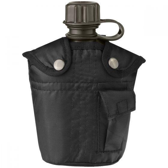 Mil-Tec Feldflasche mit Hülle 1 Liter Schwarz