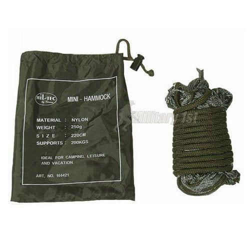 Mil-Tec Mini-Hängematte aus Nylon Oliv