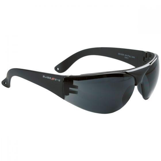 Swiss Eye Outbreak Protector Sportbrille Gestell in Schwarz / Gläser in Smoke