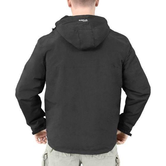 Surplus Windbreaker-Jacke mit Reißverschluss Schwarz