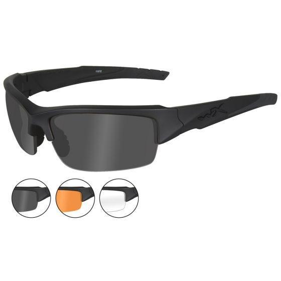 Wiley X WX Valor Schutzbrille - Gläser in Smoke Grey + Transparent + Light Rust / Gestell in Mattschwarz
