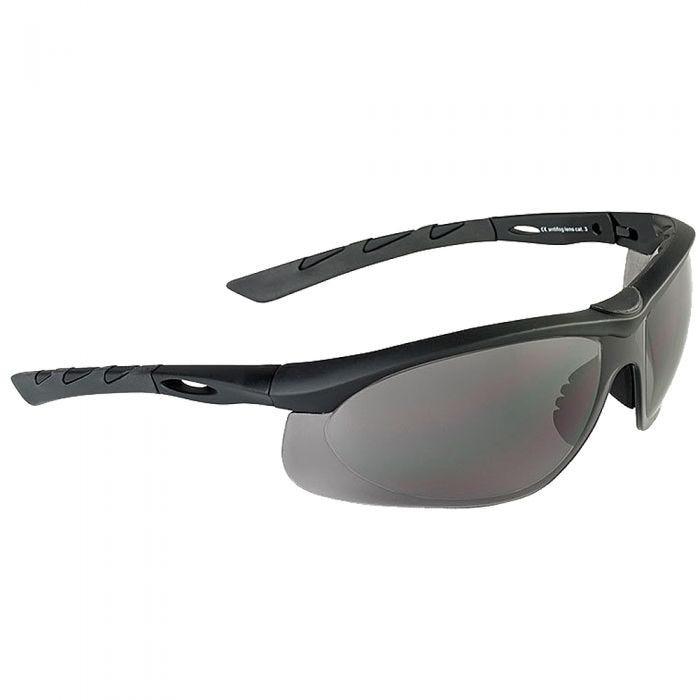 Swiss Eye Lancer Sonnenbrille mit Gläsern in Smoke / Gummigestell in Schwarz