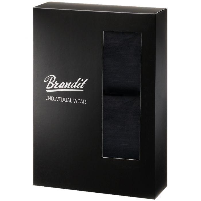 Brandit Boxer Shorts Logo 2 Pack Black / Black