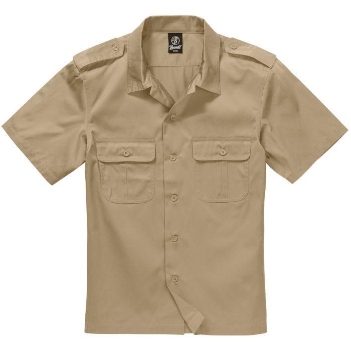 Brandit US Kurzärmliges Hemd Beige