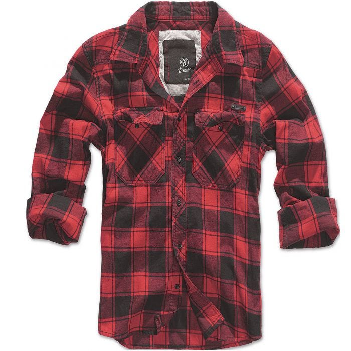 Brandit Hemd mit Karomuster Rot/Schwarz