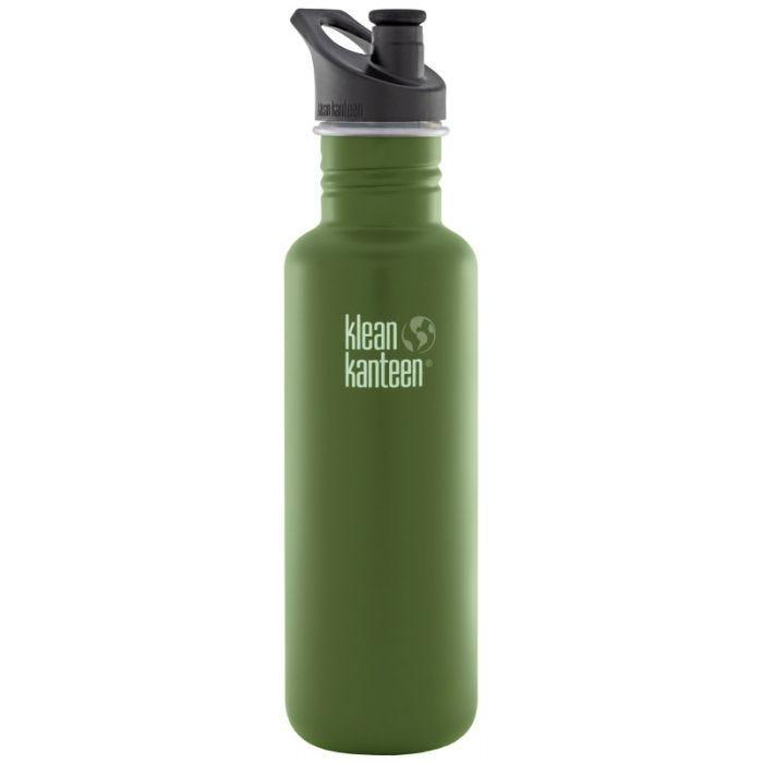 Klean Kanteen Classic 800 ml Trinkflasche mit Sport Cap 3.0 Green Fatigue
