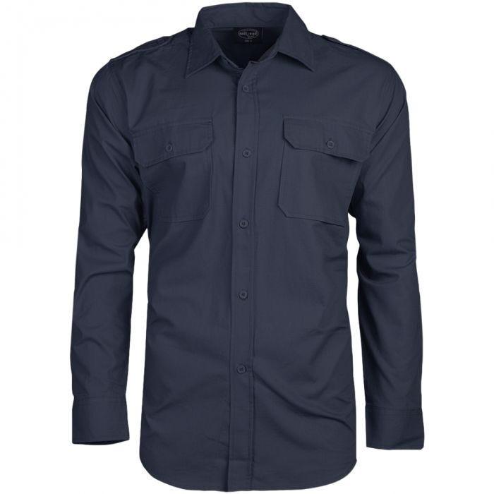 Mil-Tec RipStop Langärmliges Hemd Navy Blue