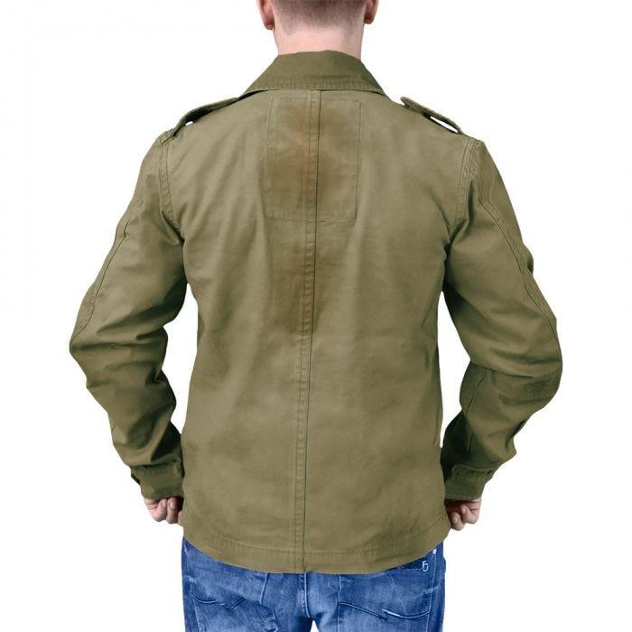 Surplus Heritage Jacke im Vintage-Stil Oliv