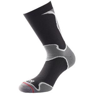 1000 Mile Fusion Flat Toe Seam Sport Socken Schwarz