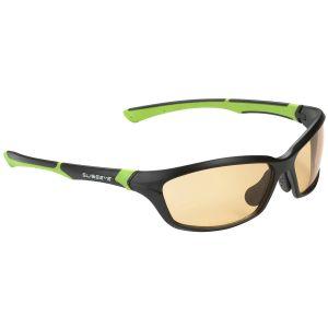 Swiss Eye Drift Sonnenbrille - photochrome Gläser in Orange Smoke / Gestell in Mattschwarz und Grün
