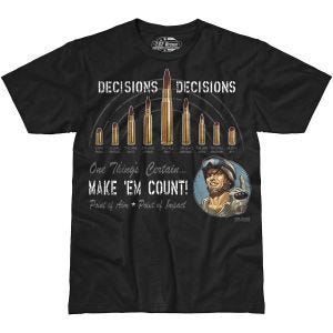 7.62 Design Decisions Decisions T-Shirt Schwarz