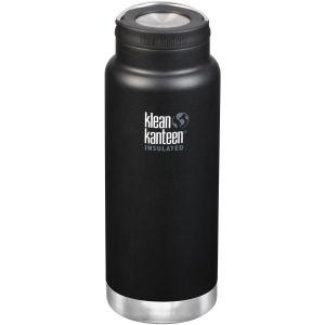 Klean Kanteen TKWide 946 ml Isolierte Trinkflasche mit Loop Cap Shale Black