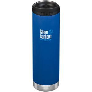 Klean Kanteen TKWide 591 ml Isolierte Trinkflasche mit Café Cap Deep Surf