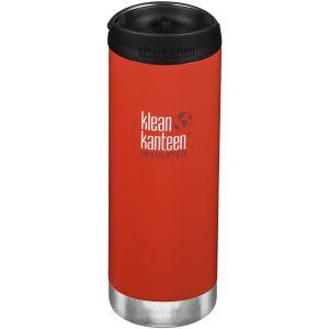 Klean Kanteen TKWide 473 ml Isolierte Trinkflasche mit Café Cap Post Box Red