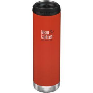 Klean Kanteen TKWide 591 ml Isolierte Trinkflasche mit Café Cap Post Box Red
