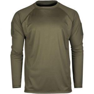 Mil-Tec Taktisches Langarm-Shirt schnelltrocknend Olivgrün