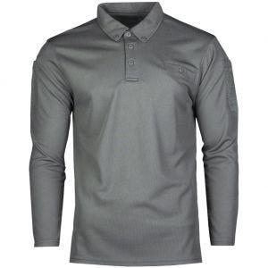 Mil-Tec Taktisches Langarm-Polo-Shirt schnelltrocknend Urban Grey