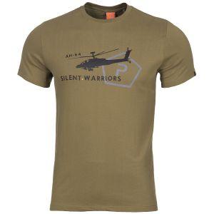 Pentagon Ageron T-Shirt mit Helikopter-Motiv Coyote