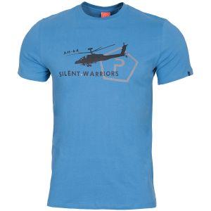 Pentagon Ageron T-Shirt mit Helikopter-Motiv Pacific Blue