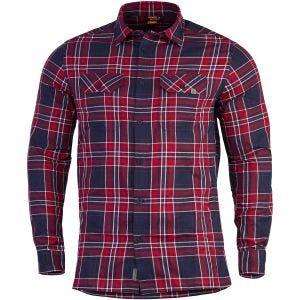 Pentagon Drifter Langarm-Flanellhemd Red Checks