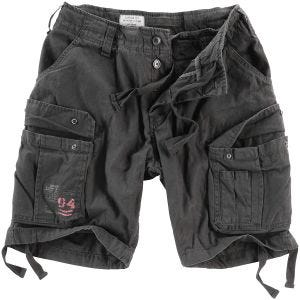 Surplus Airborne Shorts im Vintage-Stil Ausgewaschenes Schwarz