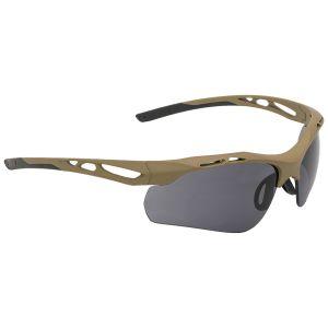 Swiss Eye Attac Sonnenbrille mit Gläsern in Smoke + Orange + Klar / Gummigestell in Coyote