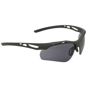 Swiss Eye Attac Sonnenbrille mit Gläsern in Smoke + Orange + Klar / Gummigestell in Olivgrün