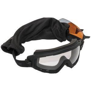 Swiss Eye G-Tac Schutzbrille mit Gläsern in Smoke + Orange + Klar / Gummigestell in Schwarz