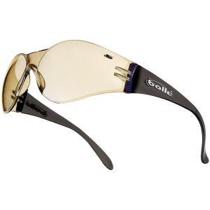 Bolle Bandido Schutzbrille transparenter Steg blaues Glas braunes Gestell