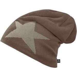 Brandit Star Cap Beanie-Mütze mit Stern Taupe