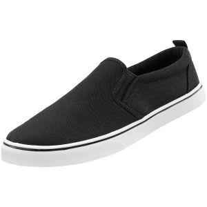 Brandit Southampton Sneaker zum Reinschlüpfen Schwarz/Weiß
