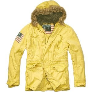Brandit Vintage Explorer Stars & Stripes Jacke Gelb
