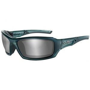 Wiley X WX Echo Brille - Gläser in Smoke Grey Silver Flash / Gestell in Smoke/Stahlblau