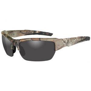 Wiley X WX Valor Schutzbrille - Gläser in Smoke Grey / Gestell in RealTree Xtra Camo