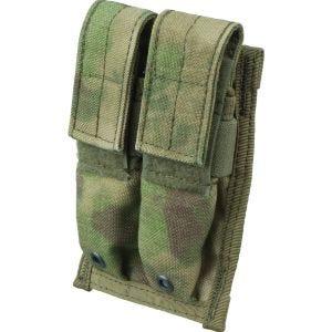Flyye Doppel-Magazintasche für 9 mm-Kaliber MOLLE-Befestigungssystem A-TACS FG