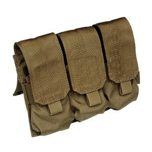 Flyye Dreifach-Magazintasche für M4/M16 mit MOLLE-Befestigungssystem Coyote Brown