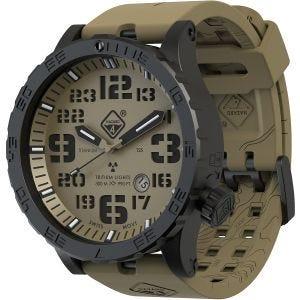 Hazard 4 Heavy Water Diver Titanium Arid Armbanduhr mit Tritium-Lichtquelle Grün/Gelb