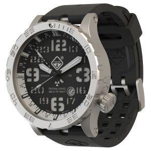 Hazard 4 Heavy Water Diver Titanium BlackTie GMT-Armbanduhr mit Tritium-Lichtquelle Weiß/Grün/Gelb