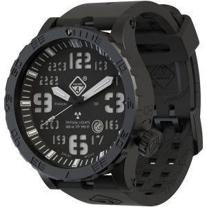 Hazard 4 Heavy Water Diver Titanium Nightwatch Armbanduhr mit Tritium-Lichtquelle Grün/Gelb
