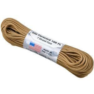 Atwood Rope 550 Lbs. Fallschirmschnur Coyote