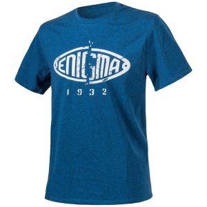 """Helikon T-Shirt mit Aufschrift """"Enigma"""" Melange Blau"""