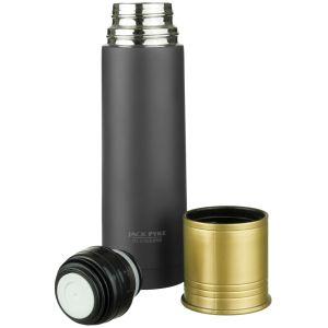 Jack Pyke Thermosflasche im Patronen-Design 500 ml Schwarz