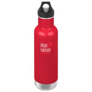 Klean Kanteen Classic Insulated 592 ml Isolierte Trinkflasche mit Loop Cap Mineral Red