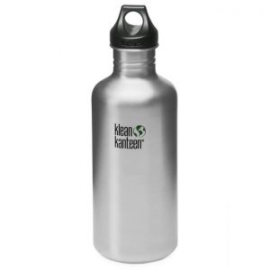 Klean Kanteen Classic 1182 ml Trinkflasche mit Loop Cap Brushed Stainless