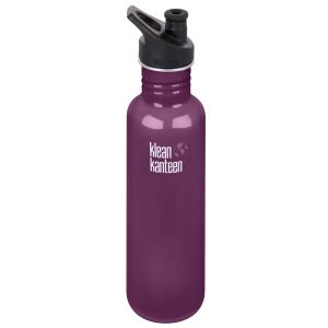 Klean Kanteen Classic 800 ml Trinkflasche mit Sport Cap 3.0 Winter Plum
