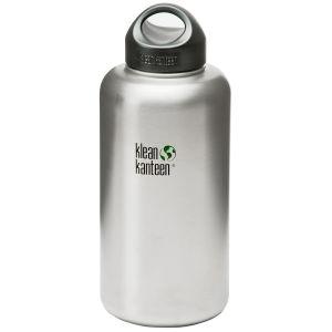 Klean Kanteen Wide 1893 ml Trinkflasche mit Loop Cap Brushed Stainless