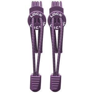 Lock Laces Elastische Schnürsenkel mit Kordelstopper Violett