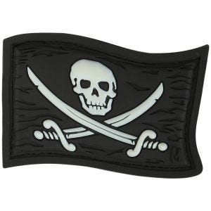 Maxpedition Patch Piratenflagge Leuchtend im Dunkeln
